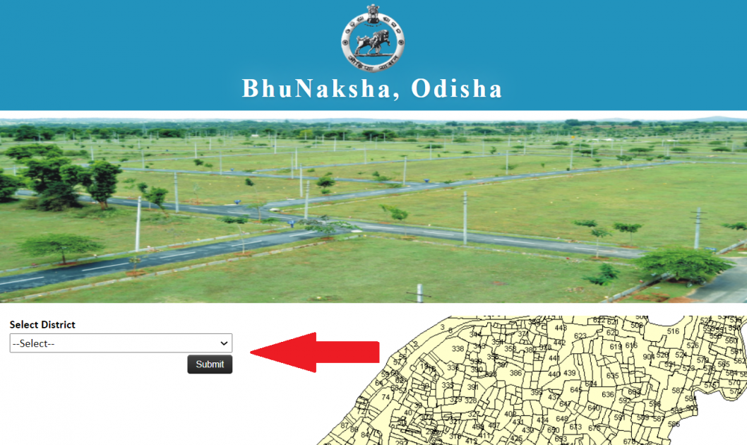 How to Check Map View in Bhulekh Orissa?