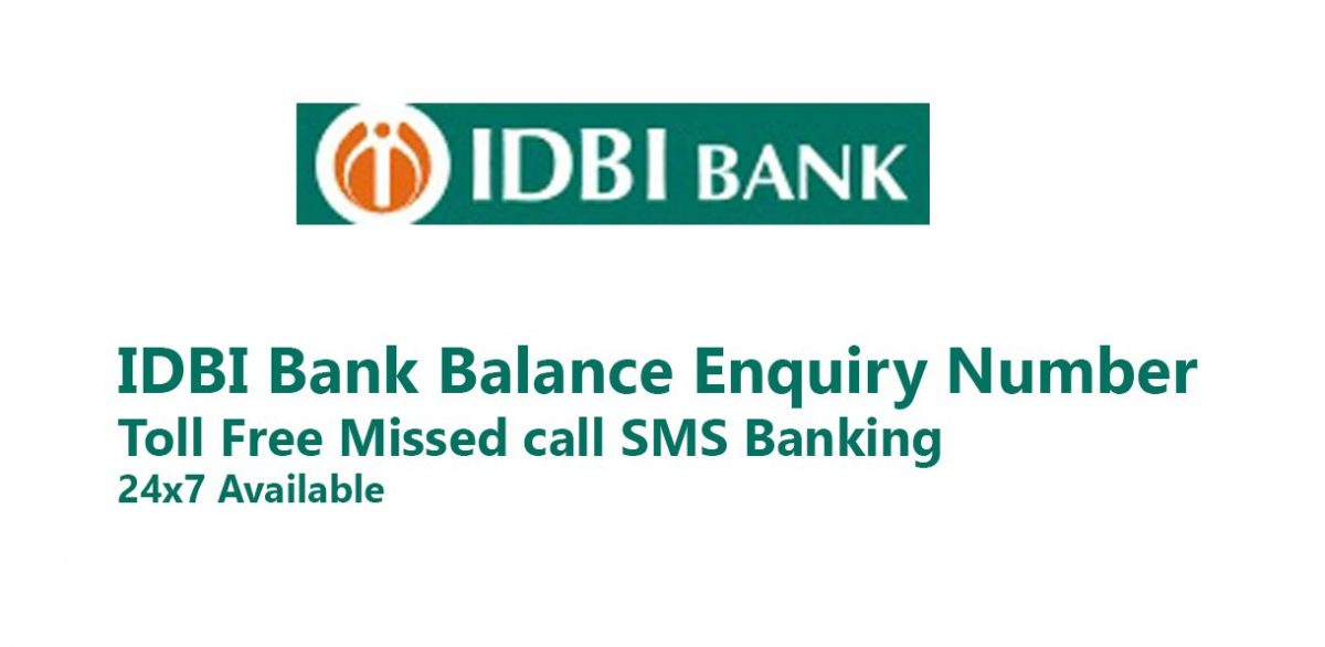 idbi balance check number