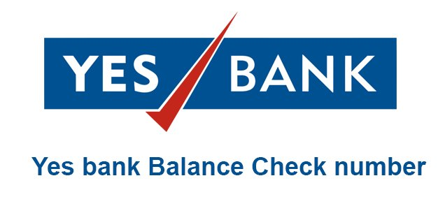 yes bank balance check number