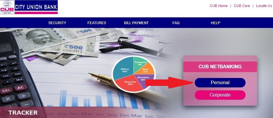cub net banking login