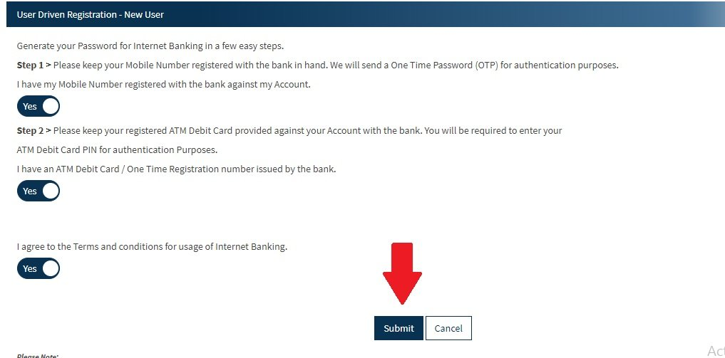 Bandhan bank net banking registration