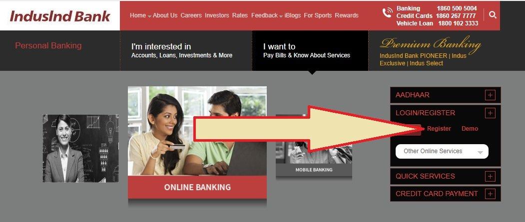 indusind online banking