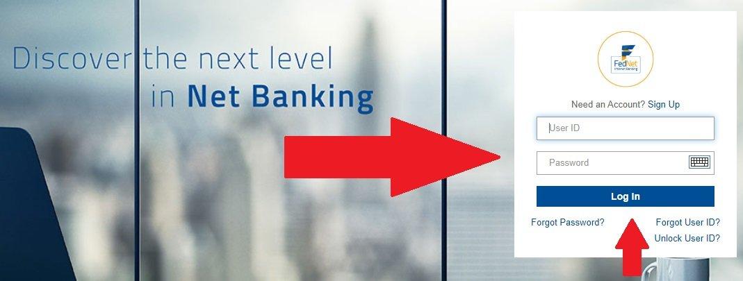 federal bank net banking login