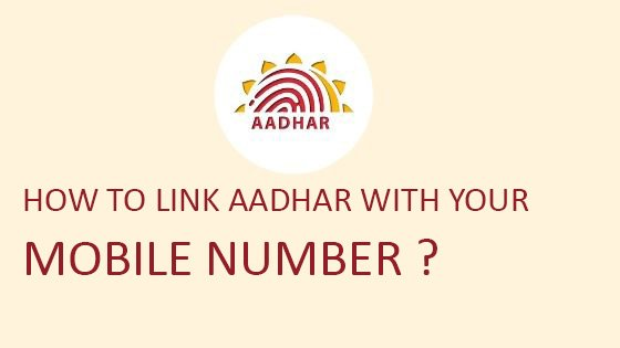 aadhar card link mobile number online