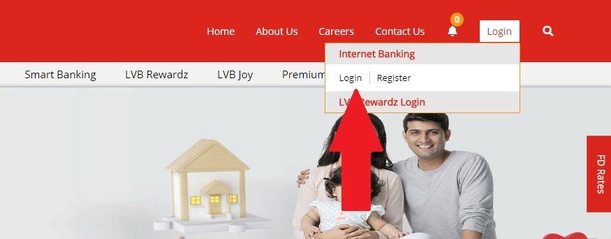 LVB Net banking login
