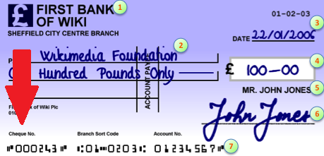 Cheque Number