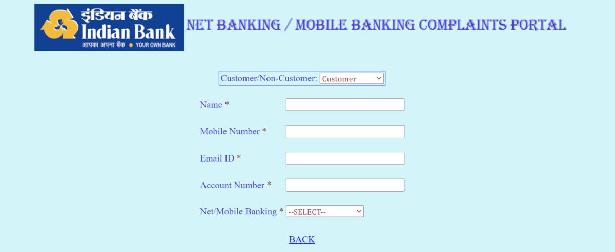 Register a Complaint about Net Banking Services