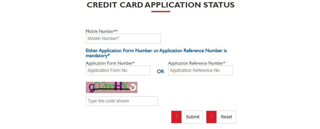 Yes Bank Credit card Status