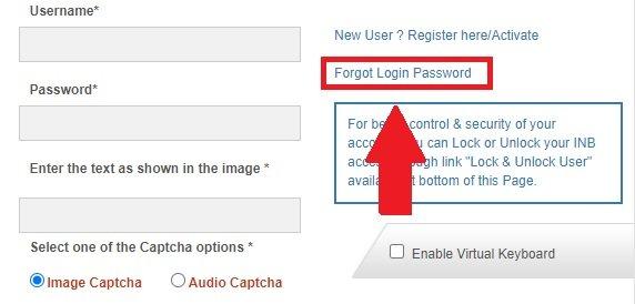 sbt online Password Forget