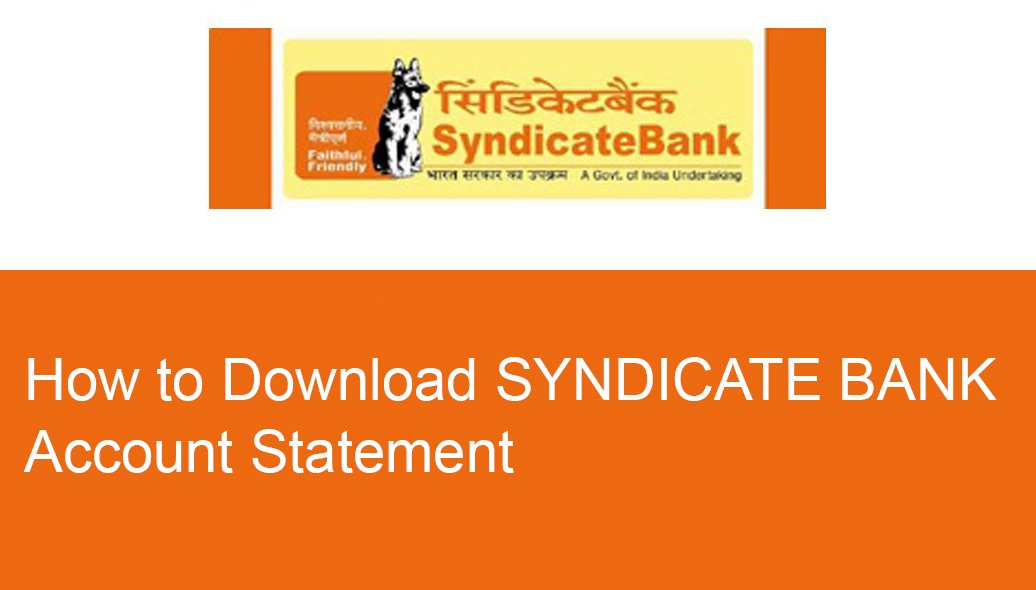 Syndicate bank statement