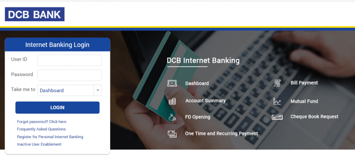 DCB Net Banking Login