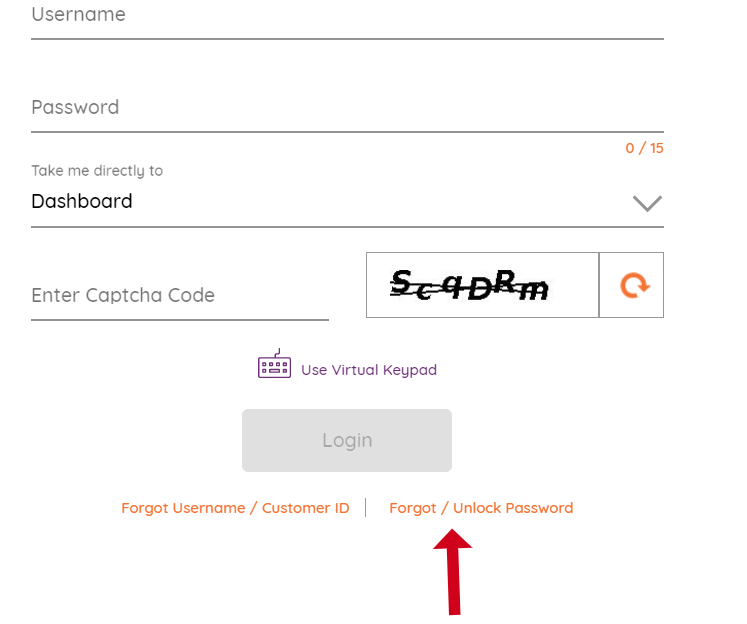 AU Bank Net Banking Forget password